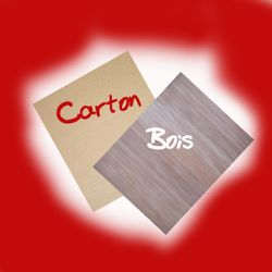Montage bois et carton