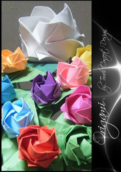 Origami bouquet brillant
