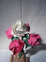 Origami bouquet 5 roses