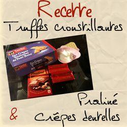 Titre recette truffes
