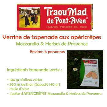 Traou mad ingrédients tapenade